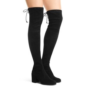Stuart Weitzman Tieland Suede Over-The-Knee Boots